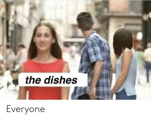 Everyone, Dishes, and The: the dishes Everyone
