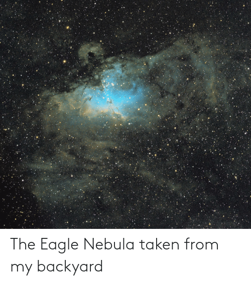 the eagle: The Eagle Nebula taken from my backyard