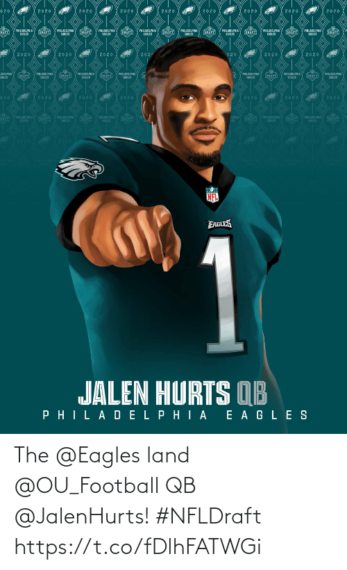 Philadelphia Eagles: The @Eagles land @OU_Football QB @JalenHurts! #NFLDraft https://t.co/fDlhFATWGi