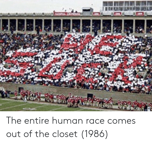 out of the closet: The entire human race comes out of the closet (1986)