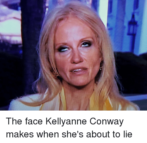 The Face Kellyanne Conway Makes When She S About To Lie Conway