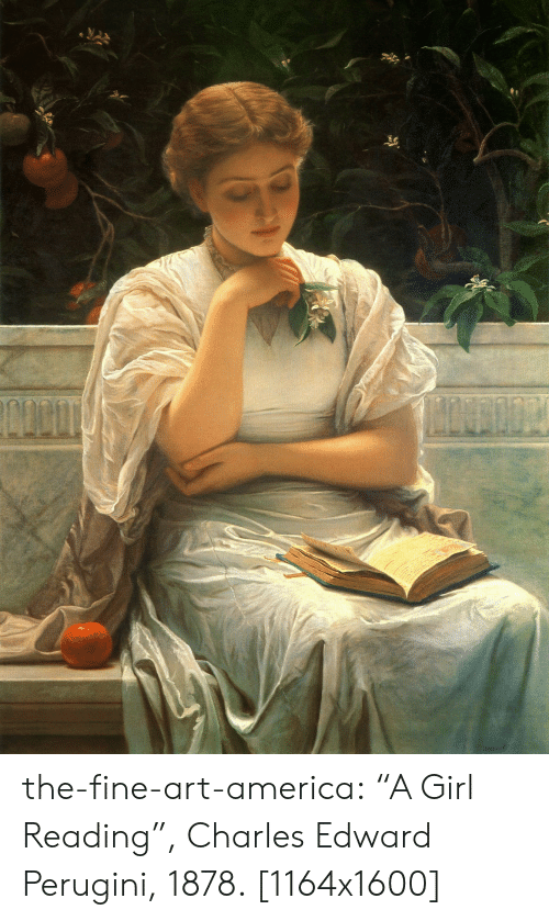 "America, Tumblr, and Blog: the-fine-art-america:  ""A Girl Reading"", Charles Edward Perugini, 1878. [1164x1600]"
