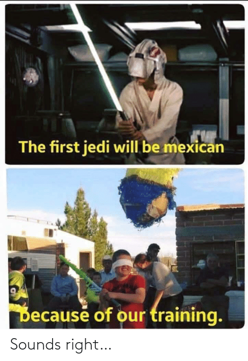 Jedi: The first jedi will be mexican  Decause of our training. Sounds right…
