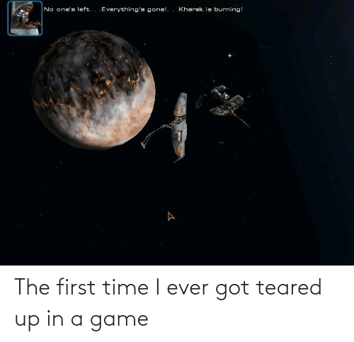 Teared Up: The first time I ever got teared up in a game