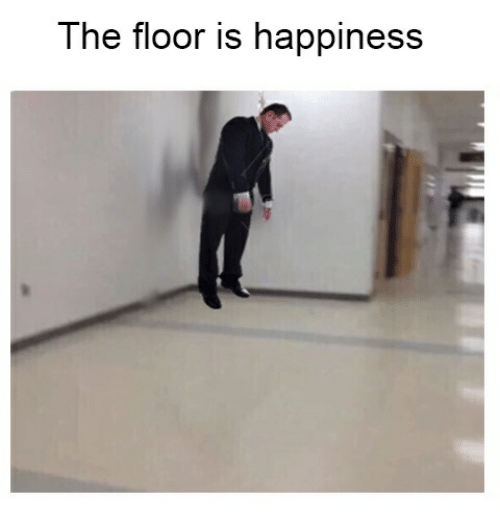 Happiness, The, and The Floor Is: The floor is happiness