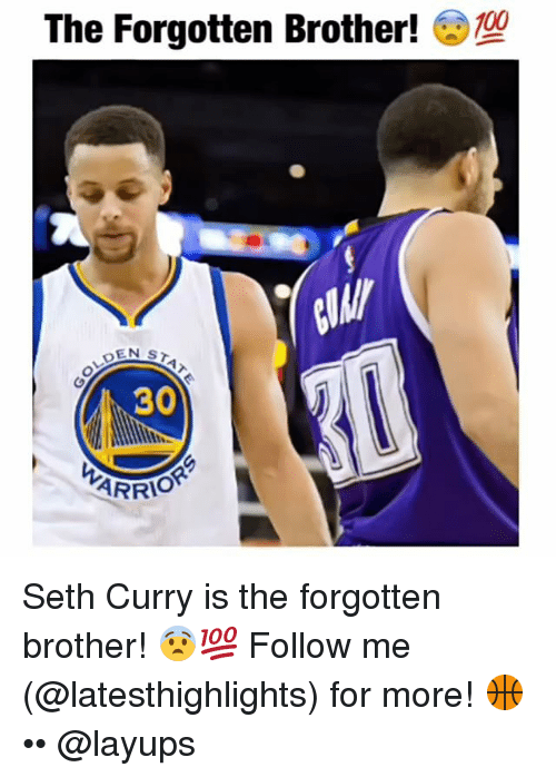 Seth Curry: The Forgotten Brother!  EN ST  30  ARRI Seth Curry is the forgotten brother! 😨💯 Follow me (@latesthighlights) for more! 🏀 •• @layups