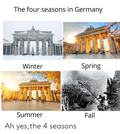 Fall, Winter, and Summer: The four seasons in Germany  123R  Winter  Spring  Summer  Fall  123R Ah yes,the 4 seasons