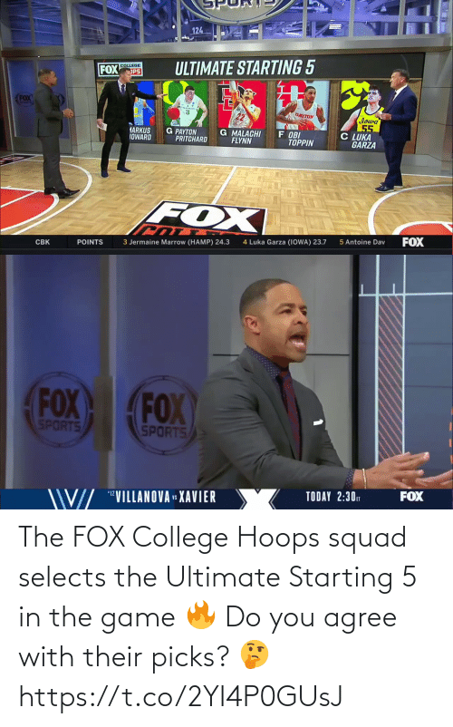 The Fox: The FOX College Hoops squad selects the Ultimate Starting 5 in the game 🔥  Do you agree with their picks? 🤔 https://t.co/2YI4P0GUsJ