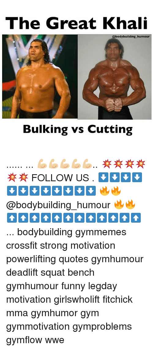 great khali: The Great Khali  @bodybuilding humour  Bulking vs Cutting ...... ... 💪🏼💪🏼💪🏼💪🏼💪🏼.. 💥💥💥💥💥💥 FOLLOW US . ⬇️⬇️⬇️⬇️⬇️⬇️⬇️⬇️⬇️⬇️⬇️⬇️ 🔥🔥@bodybuilding_humour 🔥🔥 ⬆️⬆️⬆️⬆️⬆️⬆️⬆️⬆️⬆️⬆️⬆️⬆️ ... bodybuilding gymmemes crossfit strong motivation powerlifting quotes gymhumour deadlift squat bench gymhumour funny legday motivation girlswholift fitchick mma gymhumor gym gymmotivation gymproblems gymflow wwe