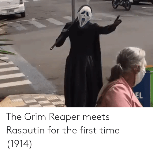 grim: The Grim Reaper meets Rasputin for the first time (1914)