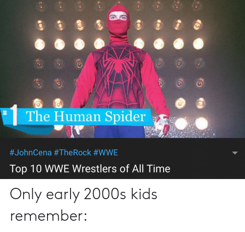 wwe wrestlers: The Human Spider  #JohnCena #The Rock #WWE  Top 10 WWE Wrestlers of All Time Only early 2000s kids remember: