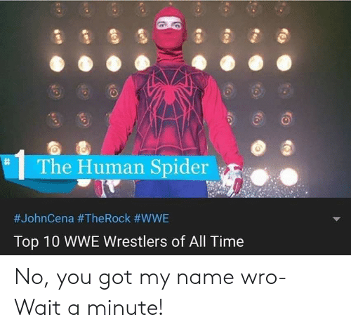 wwe wrestlers: The Human Spider  #JohnCena #The Rock #WWE  Top 10 WWE Wrestlers of All Time No, you got my name wro- Wait a minute!