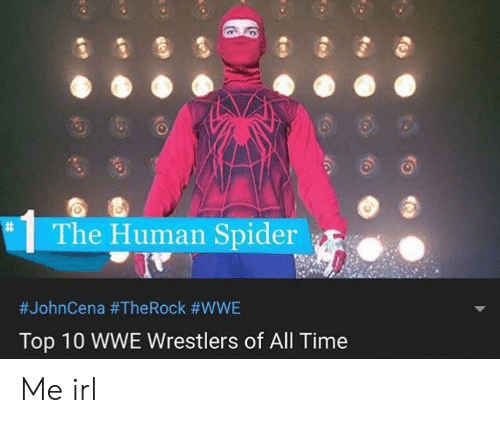 wwe wrestlers: The Human Spider  #JohnCena #TheRock #WWE  Top 10 WWE Wrestlers of All Time  Me irl
