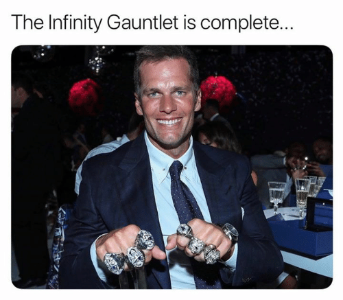 Nfl, Infinity, and Gauntlet: The Infinity Gauntlet is complete...