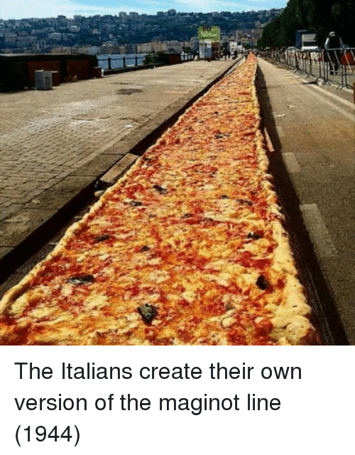 italians: The Italians create their own version of the maginot line (1944)