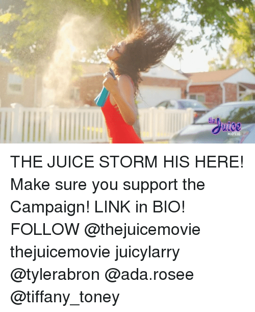 Juice, Memes, and Link: THE JUICE STORM HIS HERE! Make sure you support the Campaign! LINK in BIO! FOLLOW @thejuicemovie thejuicemovie juicylarry @tylerabron @ada.rosee @tiffany_toney