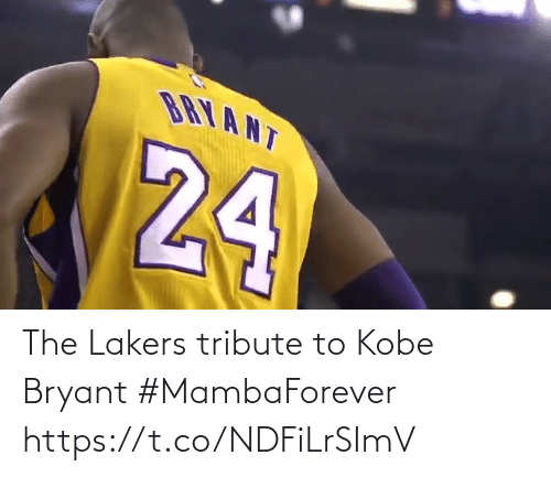 Kobe Bryant: The Lakers tribute to Kobe Bryant #MambaForever   https://t.co/NDFiLrSImV