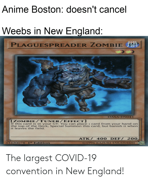 new england: The largest COVID-19 convention in New England!