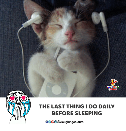 Gooo, Sleeping, and Indianpeoplefacebook: THE LAST THING I DO DAILY  BEFORE SLEEPING  GOOO/laughingcolours