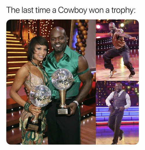 Nfl, Time, and Cowboy: The last time a Cowboy won a trophy: