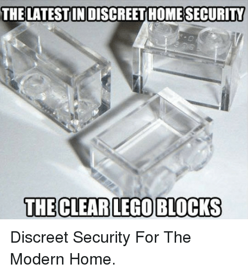 home security: THE LATESTIN DISCREET HOME  SECURITY  THE CLEAR LEGO BLOCKS <p>Discreet Security For The Modern Home.</p>