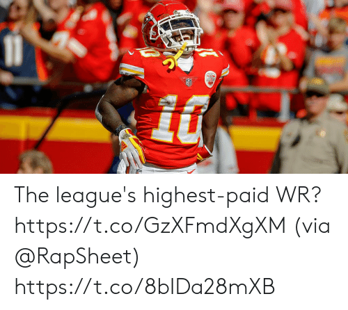 leagues: The league's highest-paid WR? https://t.co/GzXFmdXgXM (via @RapSheet) https://t.co/8bIDa28mXB