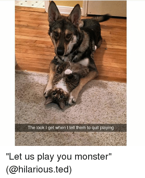 """Played You: The look l get when I tell them to quit playing """"Let us play you monster"""" (@hilarious.ted)"""