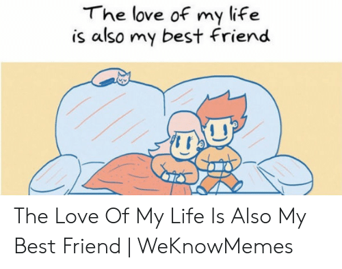 Love Of My Life Meme: The love of my life  is also my best Friend The Love Of My Life Is Also My Best Friend | WeKnowMemes