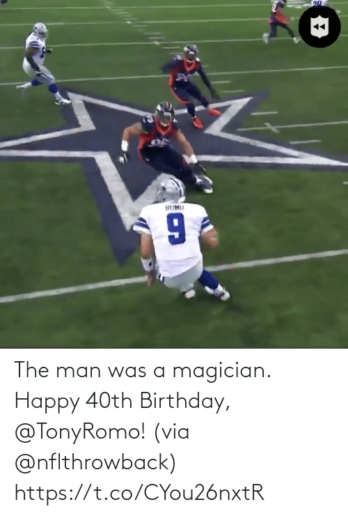the man: The man was a magician. Happy 40th Birthday, @TonyRomo!  (via @nflthrowback) https://t.co/CYou26nxtR