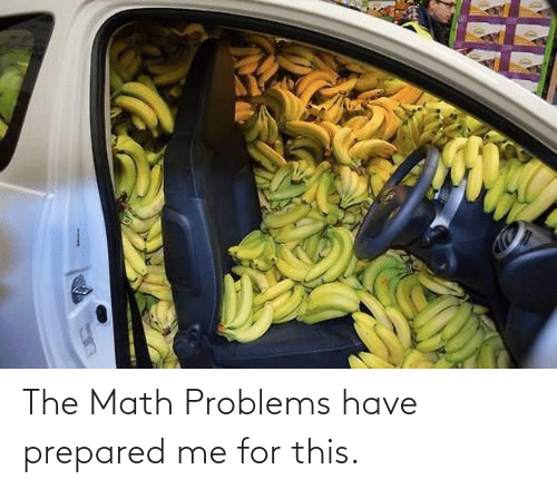Math: The Math Problems have prepared me for this.