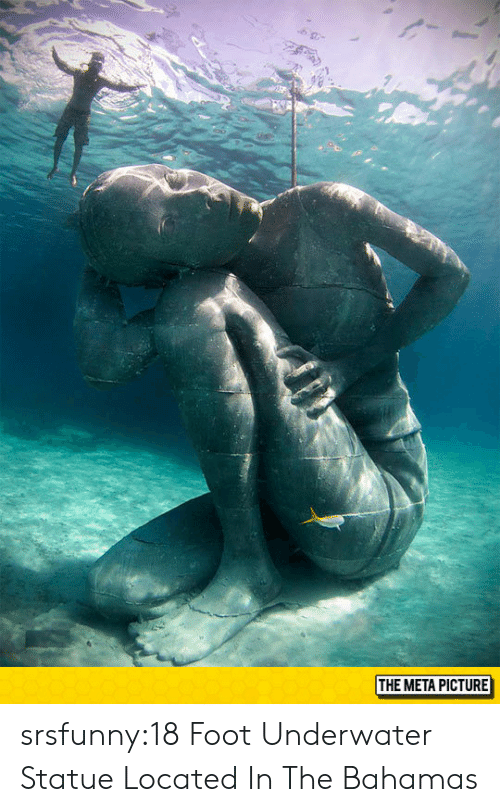 Bahamas: THE META PICTURE srsfunny:18 Foot Underwater Statue Located In The Bahamas