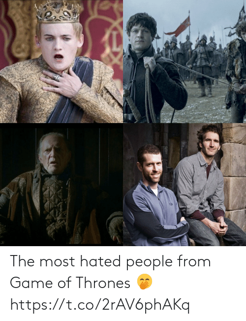 Game of Thrones: The most hated people from Game of Thrones 🤭 https://t.co/2rAV6phAKq