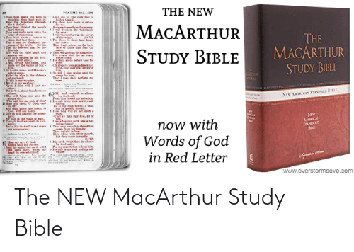 als: THE NEW  PSALMS 2  hoe be ade the land  CHle thou at eat i  Hl e eals hre  shaketh.  AT showed ar le  wthines  thehat made a drk de  Lad me tethe k oat is  ter than  Tor ho at beem a ren  MACARTHUR  er from the  Asinn  THE  MACARTHUR  STUDY BIBLE  1wke refue la e ert  4Tou hast si  la  Pe tho, 0 Gol, hast beard  That r b dlaret be  1 at the beined ar  Sve wh thr riht hand, and  Th haiven n e herl  A of tho at the  STUDY BIBLE  Thwne  ng'te:  de God for  le hal ald  1 ride Sehn. and  eout e alle S  os inkiad d  ndthal der me s  Sin  So w sin rni te dhe  न  অ  Tbel-m ale ie the defence  lwid ia slece  ग  hution  NEW AMEICAN STANDARD BIBLE  :'diet  God. l  yation  pot be erearl me  Hw awe et voon  gen.  -Thal e m lar iw, all of  Jad the ot set forth. a  Now  AMICAN  STANDARD  Pr ain a dhe ele of an  1we  now with  Words of God  in Red Letter  La legnine wall, hetot  Ther ty enthret hi  Ther delish in  Trhla hat will tad de  adveraries  4  Sertmn Sfs re  her  Mese with thrir porh.  et ther cte lewny  in lece  Mr seol. w  Aeed sato  e er  cal als dee, whee  Seart te arwbelmed:  www.everstormseve.com The NEW MacArthur Study Bible