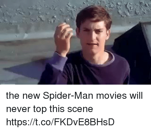 Movies, Spider, and SpiderMan: the new Spider-Man movies will never top this scene https://t.co/FKDvE8BHsD