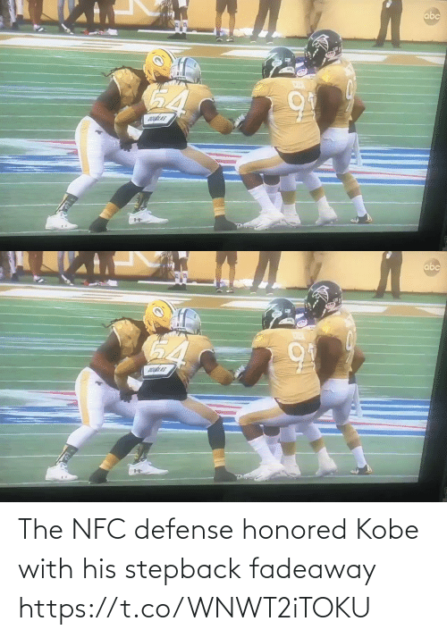 nfc: The NFC defense honored Kobe with his stepback fadeaway   https://t.co/WNWT2iTOKU