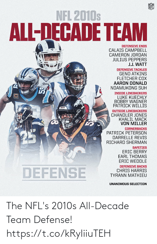 team: The NFL's 2010s All-Decade Team Defense! https://t.co/kRyIiiuTEH