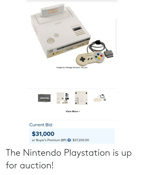 Nintendo: The Nintendo Playstation is up for auction!