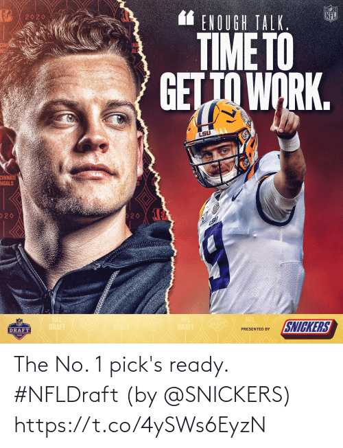 ready: The No. 1 pick's ready. #NFLDraft  (by @SNICKERS) https://t.co/4ySWs6EyzN