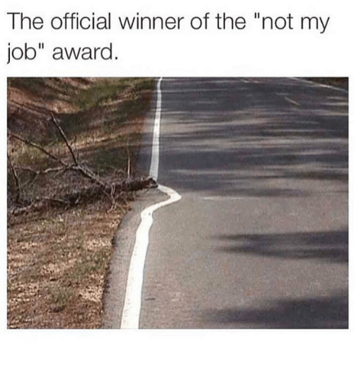 "Memes, 🤖, and Job: The official winner of the ""not my  job"" award"