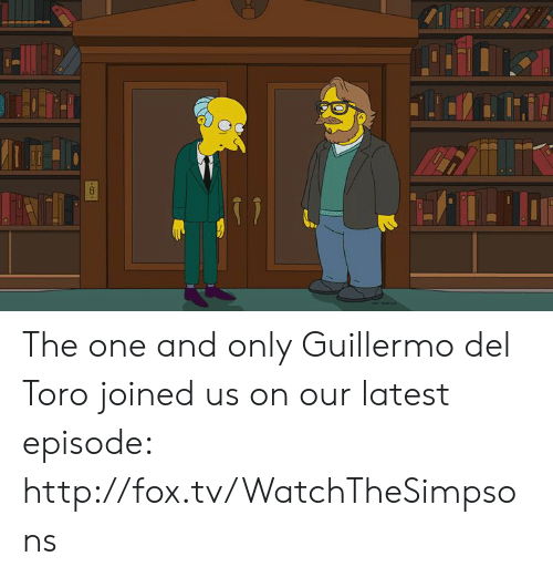 Guillermo Del Toro: The one and only Guillermo del Toro joined us on our latest episode: http://fox.tv/WatchTheSimpsons