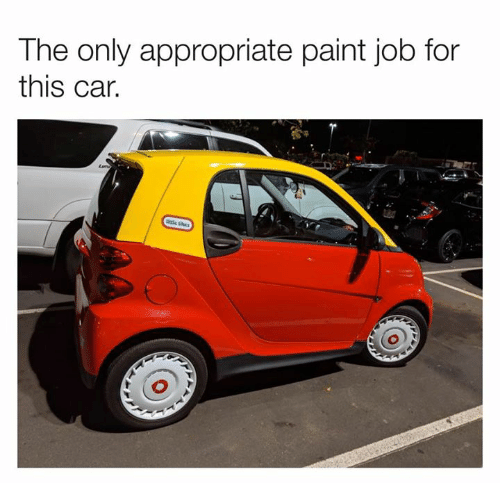 Dank, Paint, and 🤖: The only appropriate paint job for  this car.