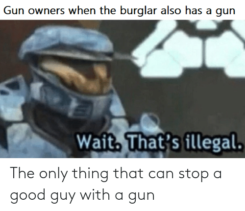Good Guy: The only thing that can stop a good guy with a gun