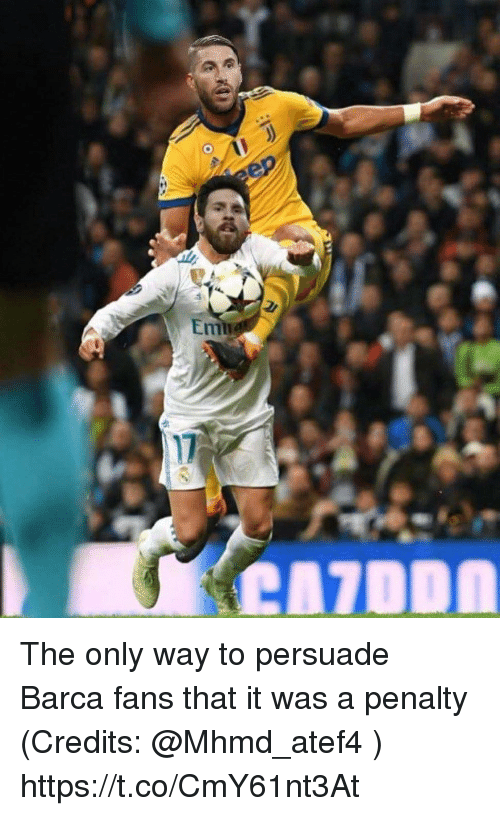 Memes, Barca, and 🤖: The only way to persuade Barca fans that it was a penalty (Credits: @Mhmd_atef4 ) https://t.co/CmY61nt3At