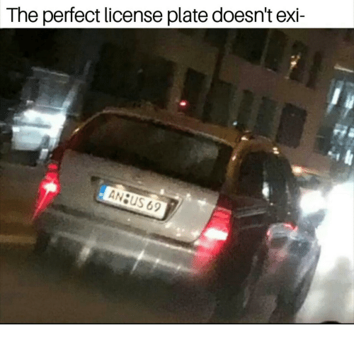 license plate: The perfect license plate doesn't exi-