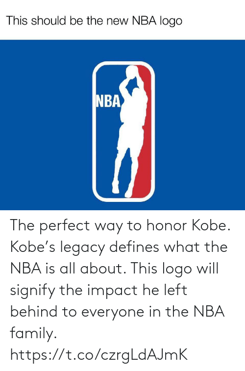 impact: The perfect way to honor Kobe. Kobe's legacy defines what the NBA is all about. This logo will signify the impact he left behind to everyone in the NBA family. https://t.co/czrgLdAJmK