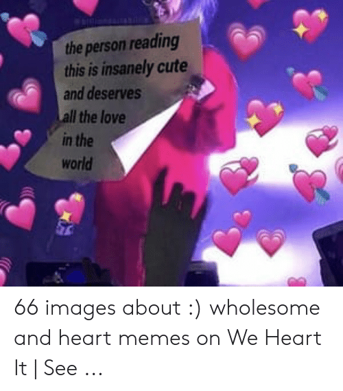 Cute, Love, and Memes: the person reading  this is insanely cute  and deserves  Il the love  in the  world 66 images about :) wholesome and heart memes on We Heart It | See ...