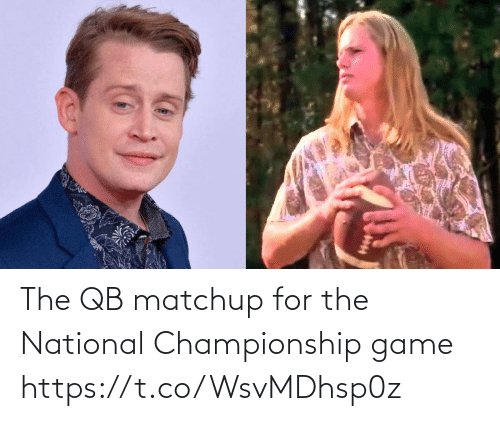 Championship: The QB matchup for the National Championship game https://t.co/WsvMDhsp0z