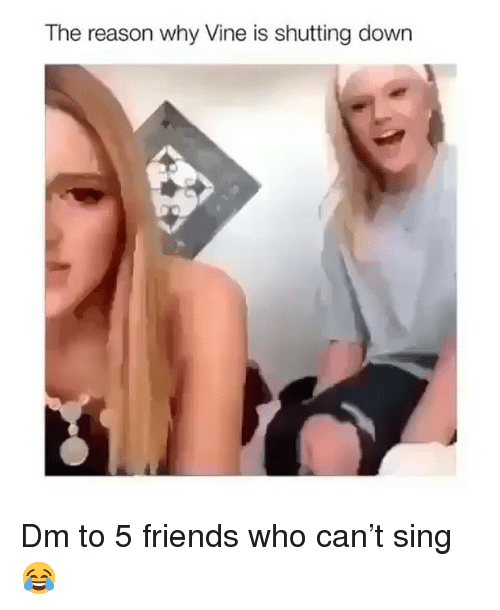 Friends, Memes, and Vine: The reason why Vine is shutting down Dm to 5 friends who can't sing 😂