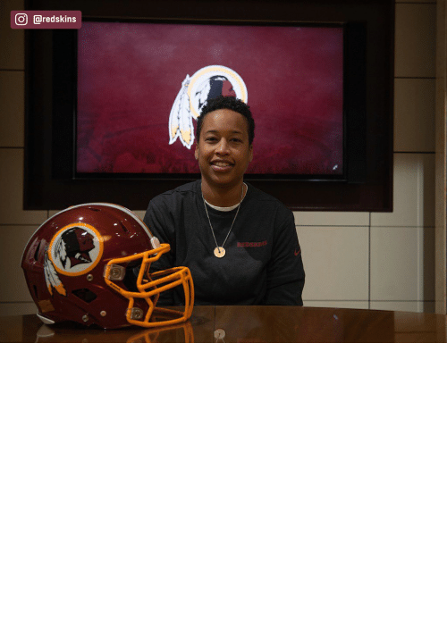 American: The Redskins have named Jennifer King as a full-year coaching intern. King is the first full season African American female coach in the NFL. (via @redskins) https://t.co/OuD411hqSr