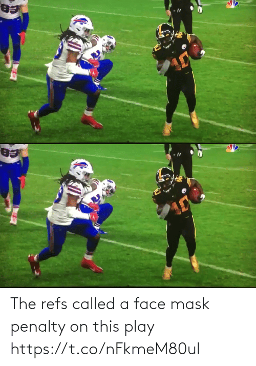 Penalty: The refs called a face mask penalty on this play https://t.co/nFkmeM80ul
